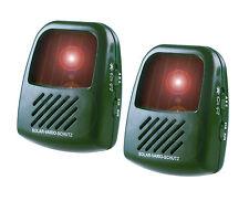 ISOTRONIC Hundeabwehr Vogelschreck Katzenschreck Tierabwehr Solar 2er Set