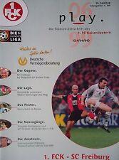 Programm 1998/99 1. FC Kaiserslautern - SC Freiburg