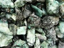 5 Pounds of Unsearched Natural Emerald Rough - Cabbing, Tumble Rocks, Reiki