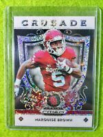 MARQUISE BROWN WHITE SPARKLE PRIZM ROOKIE CARD RC #/15 SSP REFRACTOR RAVENS 2019