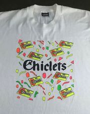 Vintage Mens XL 80s 90s Screen Stars Chiclets Chewing Gum Candy White T-Shirt