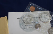 1967 Panama 6 Coin Proof Set with 1/2 & 1 Silver Balboas Original Package E2165