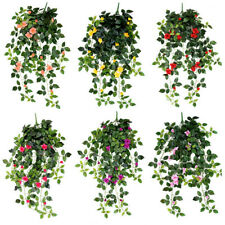 Artificial Flowers Fake Plant Outdoor Faux Floral Rose Rattan Flower Wall Plants