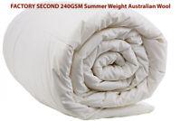 Sheridan Outlet FACTORY SECOND 240GSM SUMMER WEIGHT Australian Wool Doona Quilt