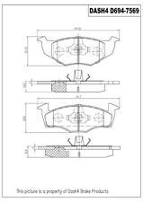 Disc Brake Pad Set-Metallic Pads Front Pronto PMD694