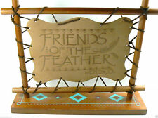 Special Edition 1997 Enesco Friends Of The Feather Leather & Wood Display Sign