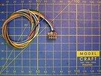 Connecteur d'interface NEM 652 câblé 8 pôles décodeur train DCC DIGITAL HO ...