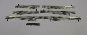 Atlas HO Scale Assorted Left & Right Hand Switch Pairs [3] EX