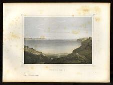 Dead Sea Mud choose 19eme Century Lithograph of 1855
