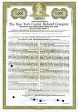 USA NEW YORK CENTRAL RAILROAD COMPANY BOND stock certificate