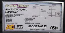 AC ELECTRONICS AC-42CD700AQBCC 42W 120-277V 50/60Hz LED DRIVER! SWITCH HITTER!!