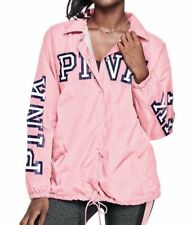 NIP VICTORIA SECRET PINK Candy Sherpa Lined Coaches Jacket XS NEW