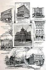 Parkersburg West Virginia OHIO COFEE MURDOCH SHATTUCK JACKSON 1891 Matted Print