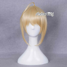 Anime Fate/zero Fate/Stay Night Saber Lily Blonde Short Halloween Cosplay Wig