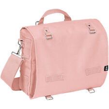 Brandit Large Canvas Bag Sport Shoulder Pack Cotton School Messenger Piggy Pink