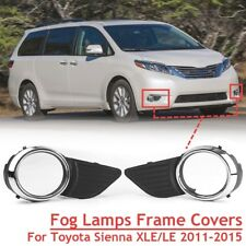 Chrome Front Fog Light Lamps Frame Cover Trim For Toyota Sienna XLE LE 2011-2015