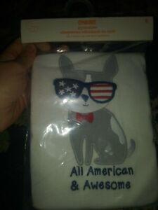 New nip Gymboree Gymmies 8 boy pajamas short sleeve set all American puppy dog