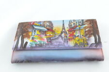 Hand Painted Paris Wallet Rfid High Quality Leather Credit Card Women's Style