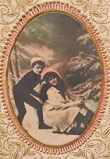 Antique Embossed Postcard-1917-Happy Birthday-Children Playing