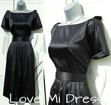 Nicholas Millington - 50's Style Satin Wrap Evening Dress 8 EU36