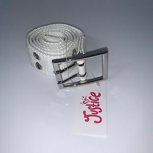 NEW Justice Multi-Holes White Belt for Girls sz S