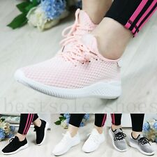 WOMEN LADIES SOFT SOLE RUNING TRAINERS FITNESS LIGHT WEIGHT GYM SPORT SHOES SIZE