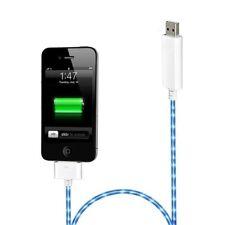 Cordon lumineux blanc avec lumière bleu pour iPhone 4