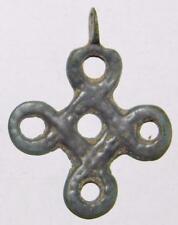 Rare Ancient Celtic Knot Cross ca.900 Carolingian? Bronze Pendant Pilgrims Badge