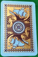 Playing Cards Single Card Old MERMAID DOLPHIN + CLIPPER SHIP Art Picture Design