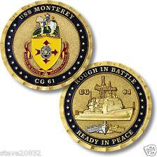 NEW U.S. Navy USS Monterey (CG-61) Challenge Coin. 62125.