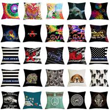 17''Linen/Cotton Cushion Cover Sofa Bed Car Waist Home Deecor Throw Pillow Case