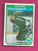 1982-83 OPC # 123 WHALERS RON FRANCIS  ROOKIE EX-MT CARD (INV# C4628)