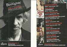FLYER PLV - LOUIS BERTIGNAC ( TELEPHONE) EN CONCERT LIVE 2013 A CLERMONT FERRAND