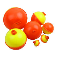 20Pcs 0.5-2inch Fishing Floats Bobbers All-Round Snap-On Push Button Buoy Float