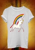 Unicorn Middle Finger Funny Novelty Men Women Unisex T Shirt Tank Top Vest 1224