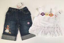 NWT Gymboree Colorful Paradise 12-18 Months Crochet Flower Top & Ruffle Jeans