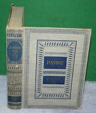 Vintage Hardcover Book - IVANHOE by Sir Walter Scott 1945 New York Dodd & Mead