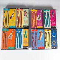 Job-lot 8X Mobil The 50s, 60s, 70s, 80s Album Compilation Hits UK Cassette Tape