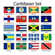Caribbean Islands 3x5' Flag Set of 20 Country Polyester Flags