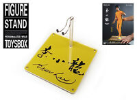 "Bruce Lee 1/6 12"" Kung Fu Wing Chun Hot Toys Action Figure Base Stand"