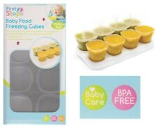 8 First Steps Baby Food Freezing 70ml Cubes Pots BPA Storage Tray Weaning