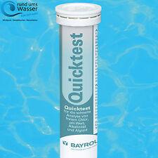 Bayrol QuickTest Teststreifen pH/Cl/TAC/Alg. 50 St. Wasser Test Pool Schwimmbad