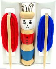 Wooden French Knitting Doll Knitting Set with Wool Childrens Knitting Craft Set