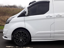 FORD TRANSIT CUSTOM WIND DEFLECTORS RAIN SMOKE BRAND NEW 2013 ONWARDS