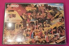 "Jumbo 1500 Jigsaw Puzzle ""Proverbs"" By Pieter Bruegel BRAND NEW! FACTORY SEALED!"