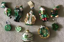 Set Of 10 Irish Christmas Ornaments NEW