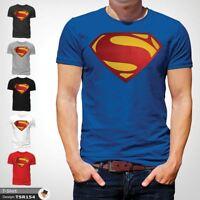 MENS SUPERMAN T SHIRT CLASSIC FIT DC COMICS XS,S,M,L,XL,XXL NEW Blue