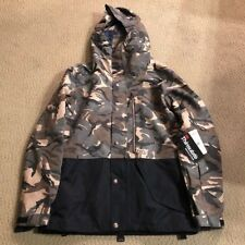 New DC Mens Haven Snowboard Jacket Medium Woodland Camo