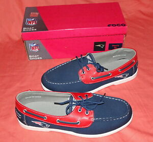 NEW = FOCO = FOOTBALL = NFL = MENS = NEW ENGLAND PATRIOTS = BOAT SHOES = SIZE 10