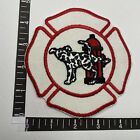 Vtg FUNNY Fire Department Theme Dog Dalmatian PEE ON FIRE HYDRANT Patch 00R7